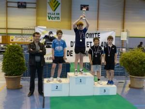 2015-championnat 35 - yann chevillard 3ème en benjamins