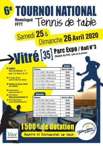 Aurore Vitre TT-Affiche Tournoi national 2020 photo