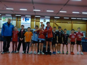 saison 2015-2016 - interclubs - podium minimes