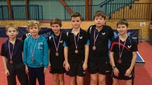 saison 2015-2016 - interclubs - médaillés minimes et benjamins