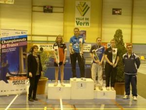 saison 2015-2016 - championnat 35 - lou metaye 2ème du tableau dames 10-13