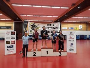 saison 2016-2017_championnat 35_podium_lou metaye 2ème tableau 9-13 dames