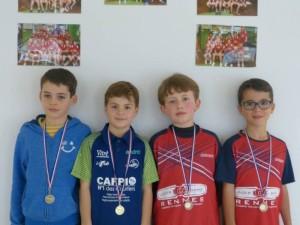 saison 2018-19-tour n°2 circuit des jeunes_enzo boukhchim 1er en poussins