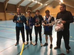 saison 2018-2019_tournoi erbrée_1er clem_2eme Steve_3eme Roger_4eme Thibault